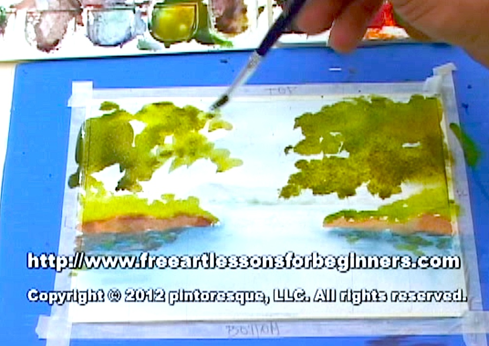 Watercolor Painting_Free Art Lesson_Step-by-Step